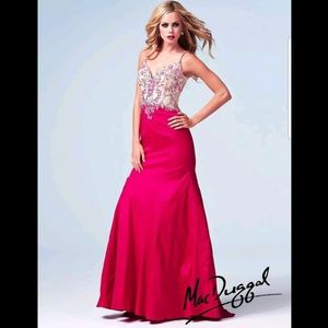 NWT Mac Duggal 76588 pink mermaid gown size 10
